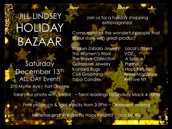 JL holiday bazaar flyer