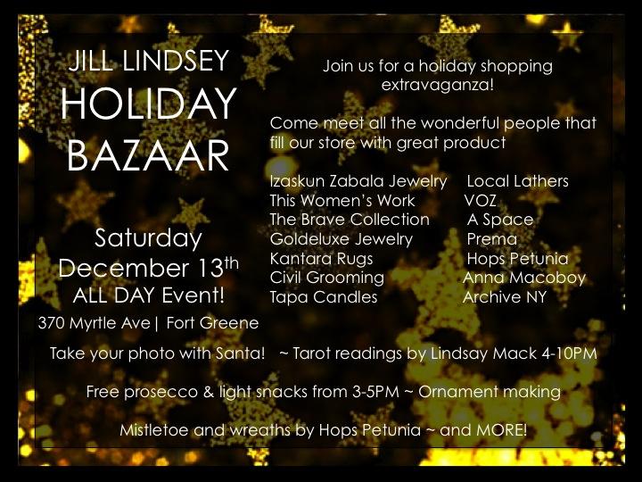 JL holiday bazaar flyer